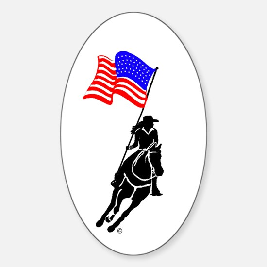 Flag Rider Oval Decal