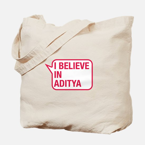 I Believe In Aditya Tote Bag