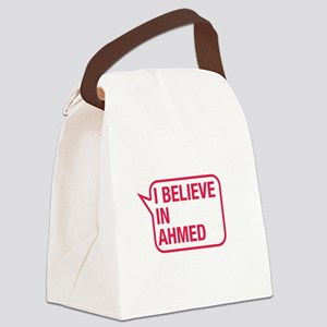 I Believe In Ahmed Canvas Lunch Bag