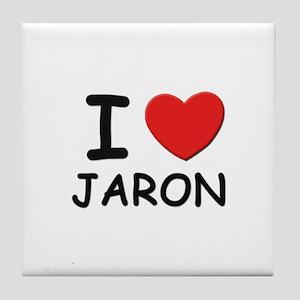 I love Jaron Tile Coaster