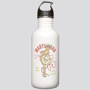 Faded Maryland Pinup Water Bottle