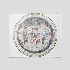Maryland Vintage State Seal Throw Blanket