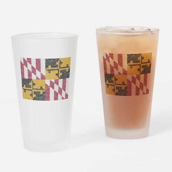 Vintage Maryland Flag Drinking Glass