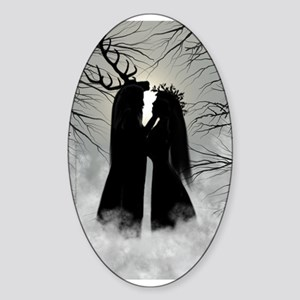 Solstice God, Goddess Oval Sticker