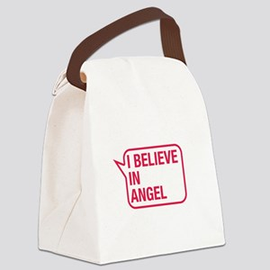 I Believe In Angel Canvas Lunch Bag