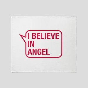 I Believe In Angel Throw Blanket