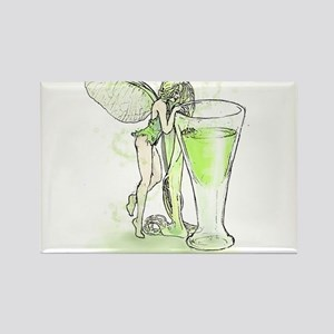 Absinthe Fairy Toying With Glass Rectangle Magnet