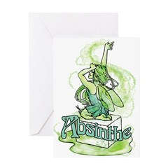 Absinthe Sugar Cube Fairy Greeting Card