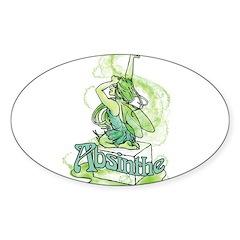 Absinthe Sugar Cube Fairy Sticker (Oval)