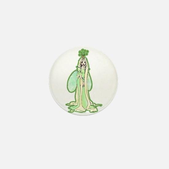 Green Fairy Princess Mini Button