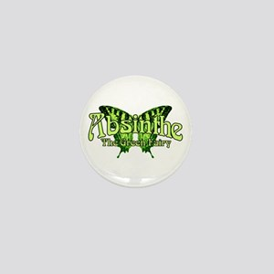 Absinthe The Green Fairy Wings Mini Button