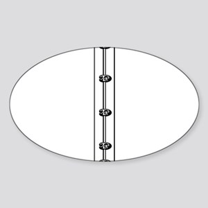 Corset Busk Graphic Sticker (Oval)