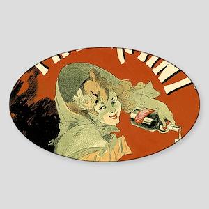 Vintage Pippermint Spirits Sticker (oval)