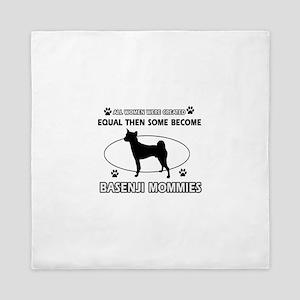 Funny Basenji dog mommy designs Queen Duvet