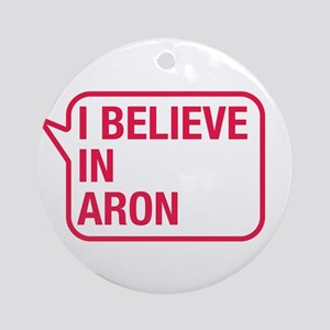 I Believe In Aron Ornament (Round)