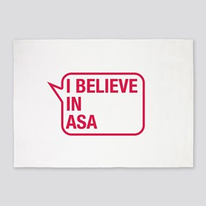 I Believe In Asa 5'x7'Area Rug