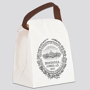 Vintage Boston Seal Canvas Lunch Bag