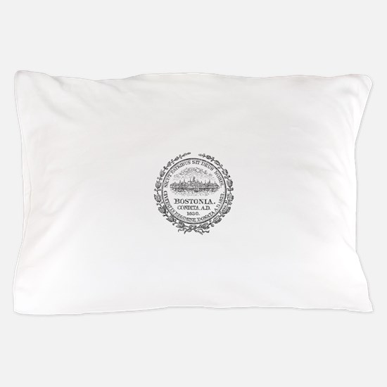 Vintage Boston Seal Pillow Case