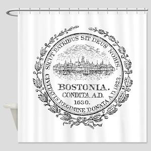 Vintage Boston Seal Shower Curtain