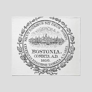 Vintage Boston Seal Throw Blanket