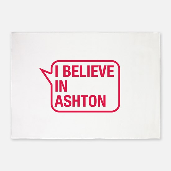 I Believe In Ashton 5'x7'Area Rug