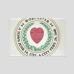 Vintage Worcester Rectangle Magnet