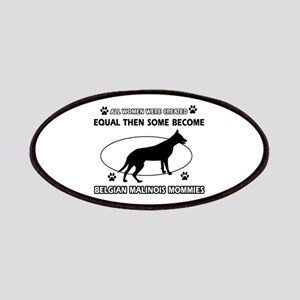 Funny Belgian Malinois dog mommy designs Patches