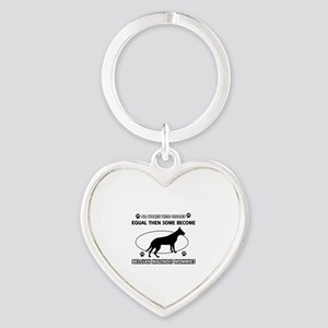 Funny Belgian Malinois dog mommy designs Heart Key