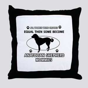 Funny Anatolian Shepherd dog mommy designs Throw P