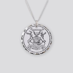 Vintage Michigan State Seal Necklace