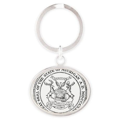Vintage Michigan State Seal Keychains