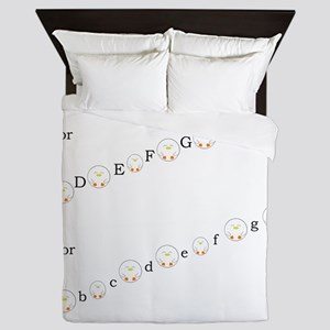 Major and Minor Keys Queen Duvet