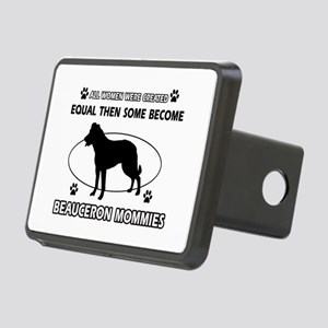 Funny Beauceron dog mommy designs Rectangular Hitc