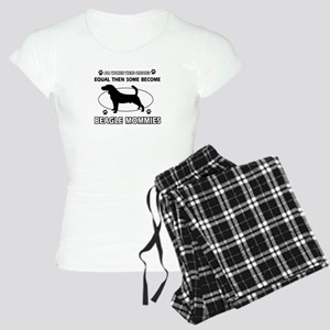 Funny Beagle dog mommy Women's Light Pajamas