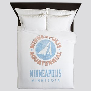 Vintage Minneapolis Aquatennial Queen Duvet