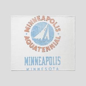 Vintage Minneapolis Aquatennial Throw Blanket