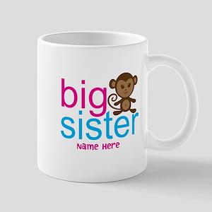 Personalized Big Sister Monkey Mug