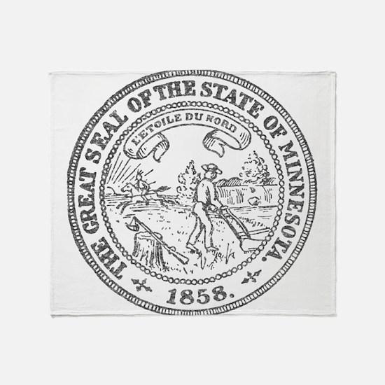 Minnesota Seal Throw Blanket