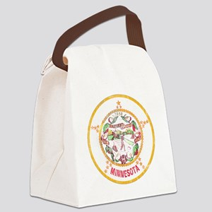 Minnesota Flag Canvas Lunch Bag