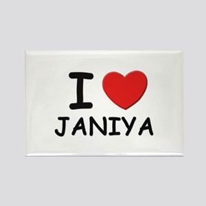 I love Janiya Rectangle Magnet