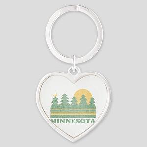 Vintage Minnesota Sunset Keychains
