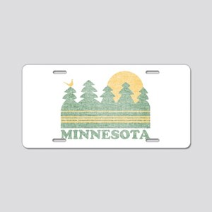 Vintage Minnesota Sunset Aluminum License Plate