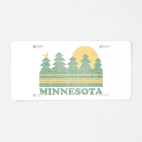 Vintage Minnesota Sunset Aluminum License Plate