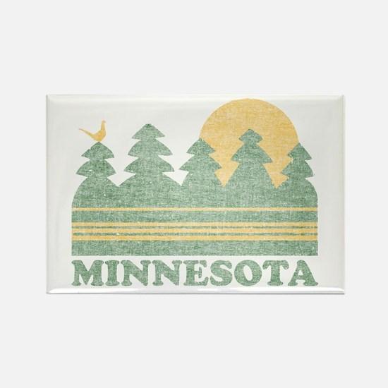 Vintage Minnesota Sunset Rectangle Magnet