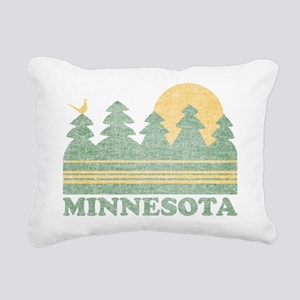 Vintage Minnesota Sunset Rectangular Canvas Pillow