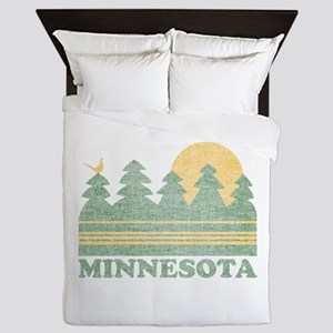 Vintage Minnesota Sunset Queen Duvet