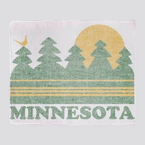 Vintage Minnesota Sunset Throw Blanket