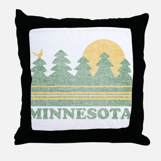 Vintage Minnesota Sunset Throw Pillow