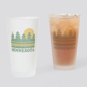 Vintage Minnesota Sunset Drinking Glass
