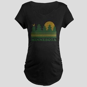 Vintage Minnesota Sunset Maternity T-Shirt